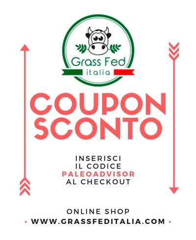 sconto grass fed italia