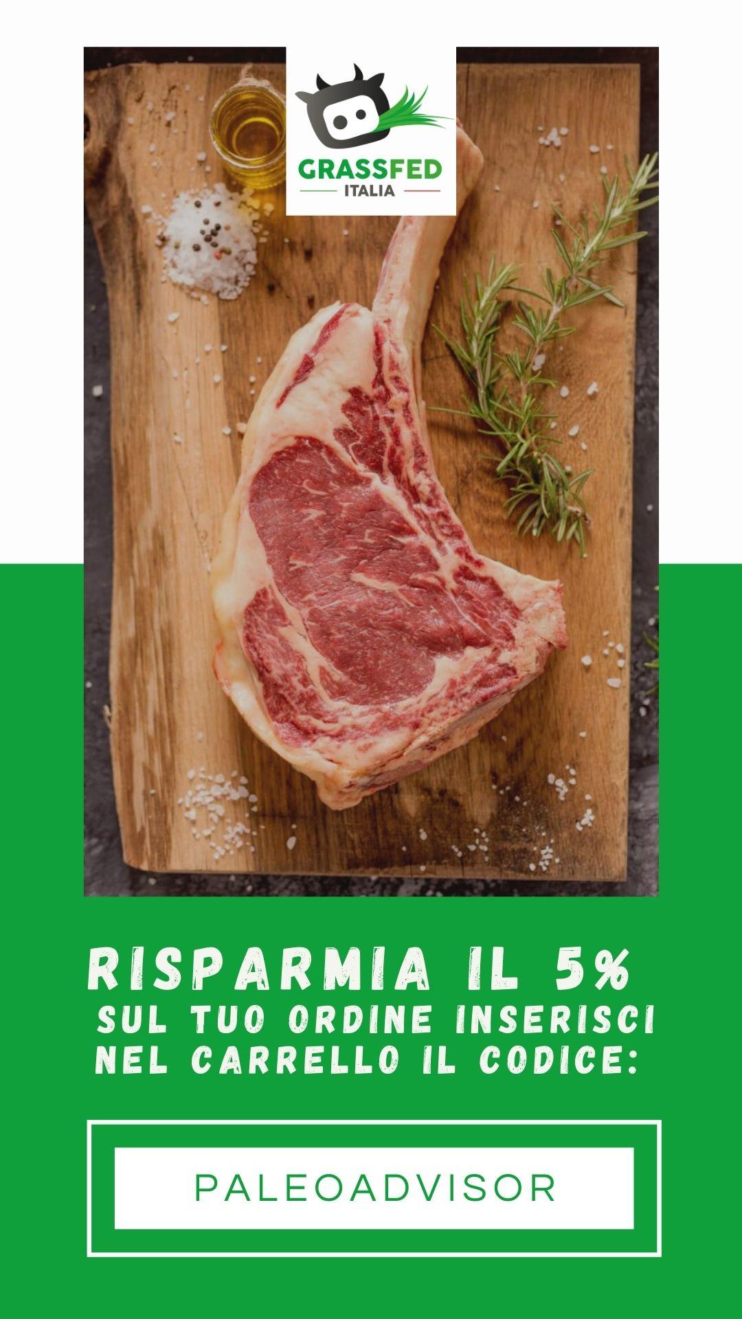 sconto carne grass fed italia