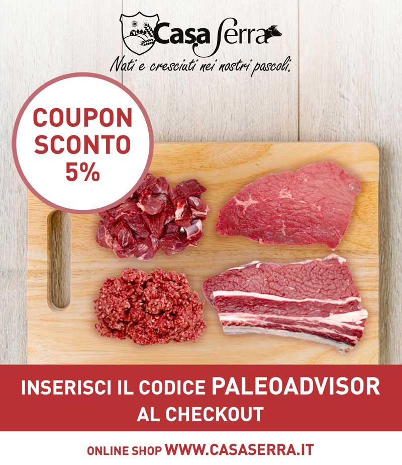 Sconto carne grass fed casa serra vendita online