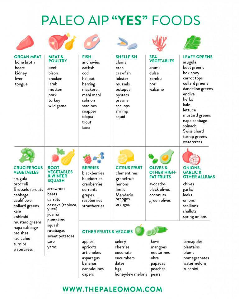 Paleo AIP Yes Foods