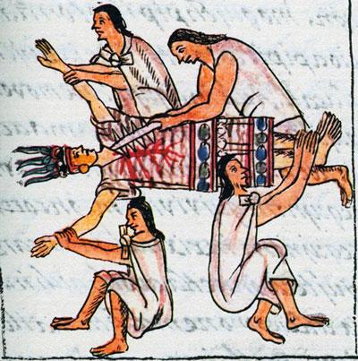 cannibalismo azteco sacrificio umano