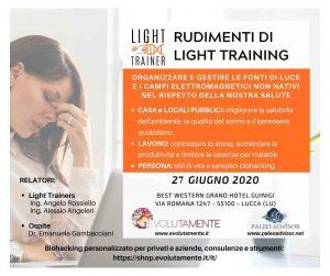 Locandina Rudimenti di Light Training Lucca 27 Giugno 2020