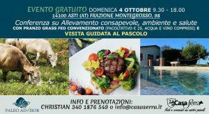 Evento Casa Serra Asti 4 ottobre